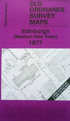 Old Ordnance Survey Map Edinburgh Western New Town 1877 S34 Yard to Mile New