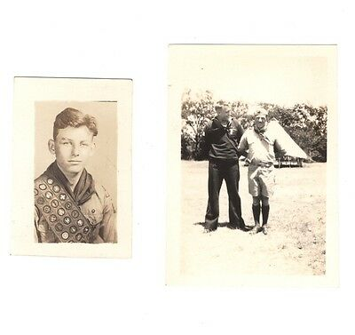 BSA Boy Scout Early 1940's Photo's Life Scout w/Sash & Eagle Sea Scout