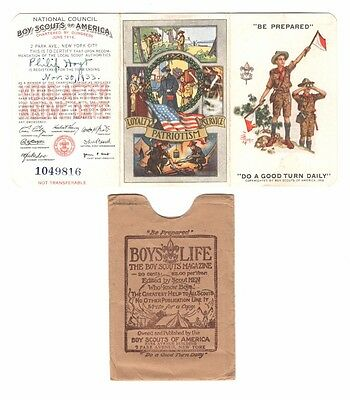 BSA Boy Scout 1933 Membership Card, Kittery Point, ME