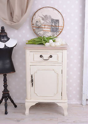 Nostalgic Bedside Table White Chest Of Drawers Country House Style Bedside Table