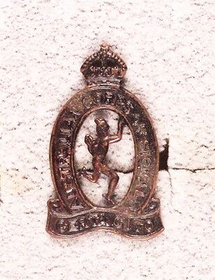 Army Badge:  Australian Corps of Signals, collar - Orbuck, bronze