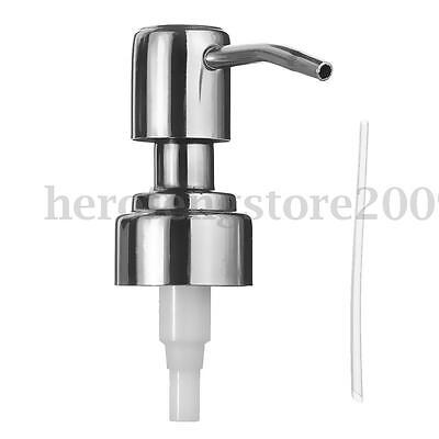 Stainless Soap Pump Head Lotion Dispenser Empty Bottle Replacement Jar Tube