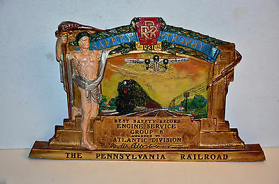 1931 Pennsylvania Railroad Safety Award Trophy to Engine Service Group B