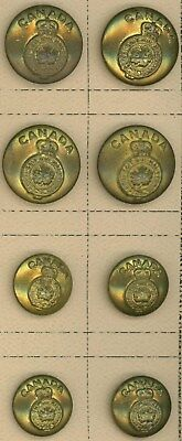 Full Set Of 8 Ww2 Canadian Army General Service Uniform Tunic Buttons Canada