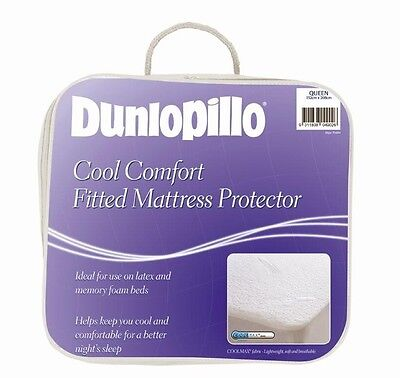 DUNLOPILLO Coolmax Fitted Mattress| Pillow Protector Single Double Queen King