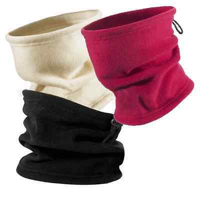 3 in 1 SNOOD Thermal Fleece Scarf Neck Winter Warmer Sport Face Mask Beanie Hat