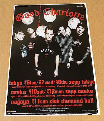 2004 Good Charlotte JAPAN tour concert flyer / mini poster MINT great photo