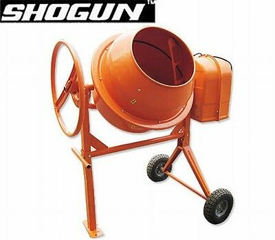 NEW 650W 4 Poles Electric Motor Commercial 200L Shogun Cement Mixer, Steel Drum