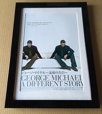 2004 Michael George A Different Story JAPAN movie flyer mini poster FRAMED wham!