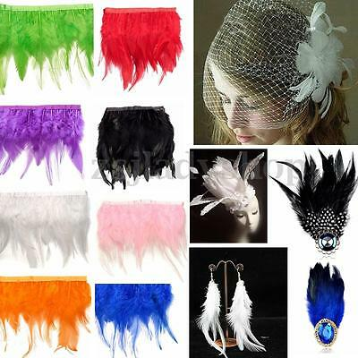 30cm Hackle Feather Fringe For Wedding Craft / Sewing trim / Costume / Millinery