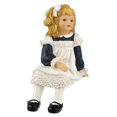 Dolls house poly/resin figure, Victorian Girl sitting, named Tammy