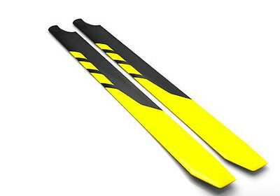 Rotortech 720mm Symmetrical 3D Carbon Fibre Helicopter Rotor Blades CN267201