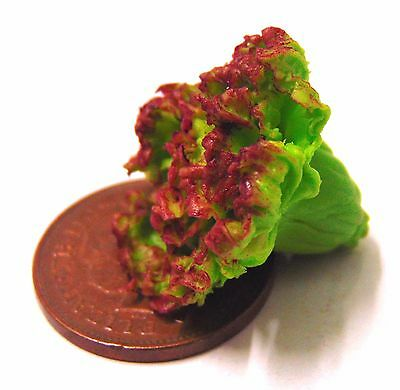 1:12 Single Red Lettuce Dolls House Miniature Vegetable Kitchen Food Accessory