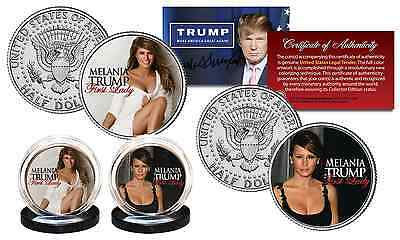 MELANIA TRUMP Republican First Lady 2016 Presidential Official JFK US 2-Coin Set