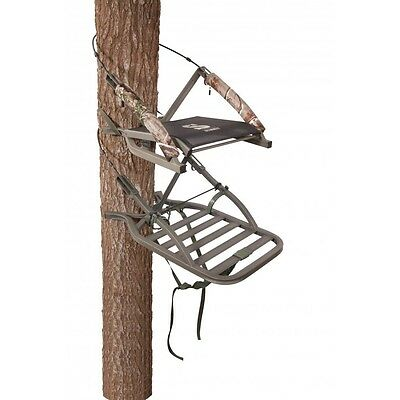 New Summit Sentry Open Front Climbing Treestand w/ Stirrups & Harness 81131
