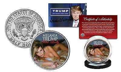 MELANIA TRUMP Republican First Lady 2016 President JFK Kennedy Half Dollar Coin