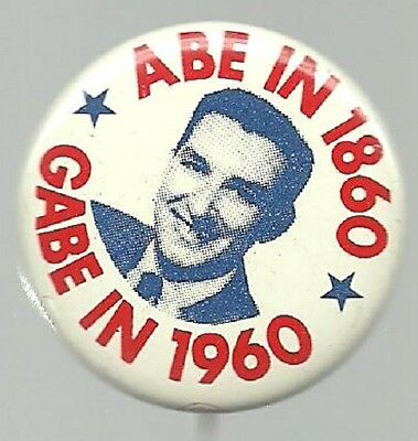 Gabe Green Universal Party 1960 Flying Saucers Political Campaign Pin