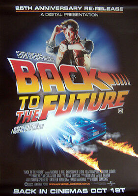 BACK TO THE FUTURE 25th ANNIVERSARY ORIGINAL D/S UK ONE SHEET CINEMA POSTER