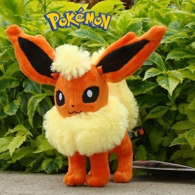 Pokemon Standing Flareon Figure Collectible Stuffed Plush Toy Doll Gift 6'' 14cm