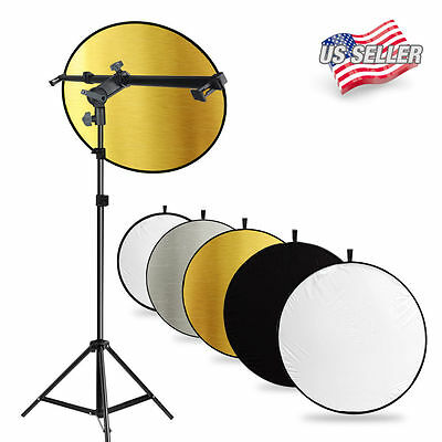 Studio Holder Bracket Swivel Head 5 in 1 Collapsible Reflector Arm Support  Kit
