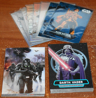 Star Wars Rogue One Mission Briefing ~ INSERT CARD LOT (35 cards total,no dupes)