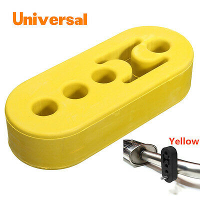 Yellow Car Exhaust Pipe Tip Mount Hanger Rubber Bracket 12mm 4 Holes Replacement
