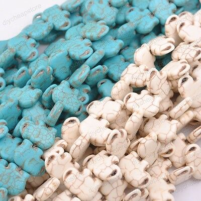 "15""Turquoise Gemstone big Spacer Loose Elephant Beads Charm Findings DIY"