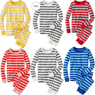 Xmas Family Women Adult Girls Boy Pajamas Set Snowflake Striped Sleepwear Pjs