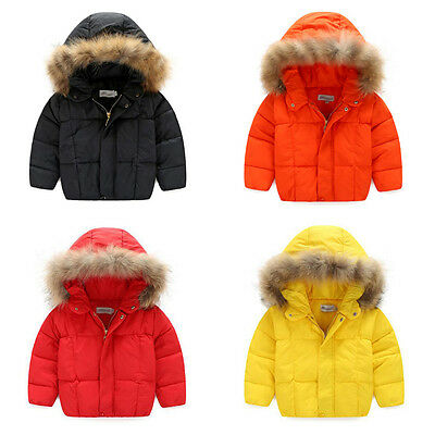 Kids Girl Boys Toddler Zip Hoodies Jacket Coat Winter Cartoon Outerwear snowsuit