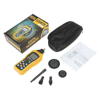 MS6208A Contact-type Digital Tachometer Meter Tester Contact Motor Speed Gauge