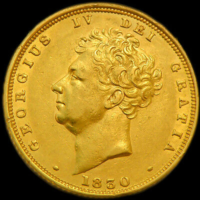 KING GEORGE THE IV 1830 GOLD SOVEREIGN Nice Extra Fine Condition..