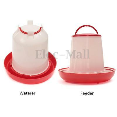 1.5/3/6kg Chicken /Poultry /Duck /Hen Chick Feeder & Drinker with Lid & Handle
