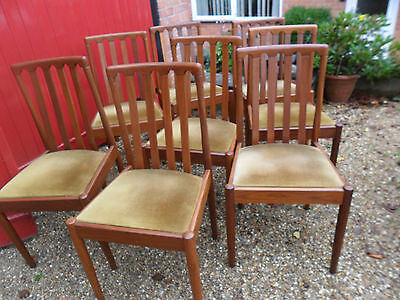 Set Of Eight Meredew  Retro . Chairs