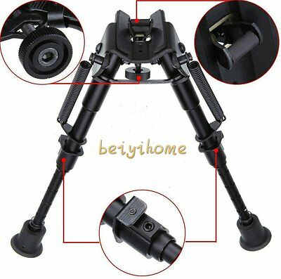 """New 6""""-9"""" Rifle Bipod Fore Grip Shooter Mount TACTICAL Eject Rail Ridge Rock BH"""