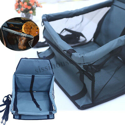 Dog Cat Puppy Car Seat Safety Cover Booster Bag Mat Soft Cage Travel Pet Carrier