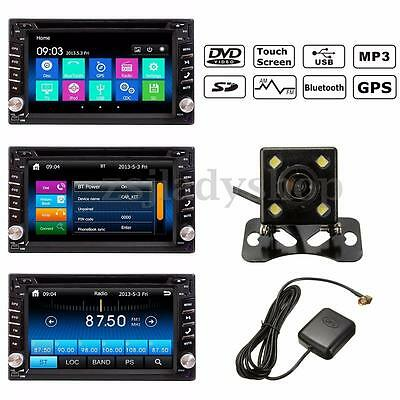 6.2'' Double DIN Car Stereo Bluetooth DVD Player GPS Navigation SD MP3 FM Camera