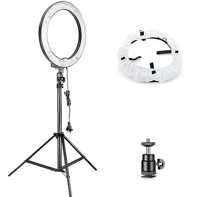 "Neewer Studio Lightning Kit: 18"" 75W LED Ring Light, Light Stand, Diffuser"