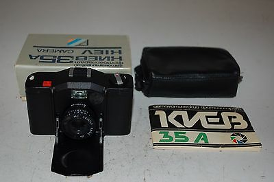 Kiev-35A Soviet Compact Camera. With Case & Cap. 8910727. 1989. BOXED. UK SALE