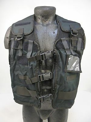 Ex Police Black Remploy Frontline CBRN Hydration MK2 Equipment Utility Vest BR3