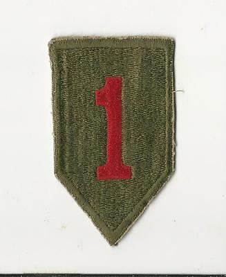 Us Army Patch - 1St Infantry Division - Original Wwii