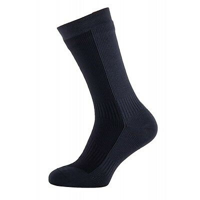 SealSkinz Hiking Mid Weight Mid Length Socks - Black / Anthracite