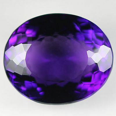 12x10mm OVAL-FACET DEEP-PURPLE NATURAL AFRICAN AMETHYST GEMSTONE