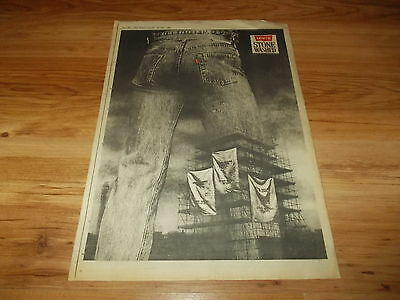 Levi's stone washed jeans-1983 poster size press advert