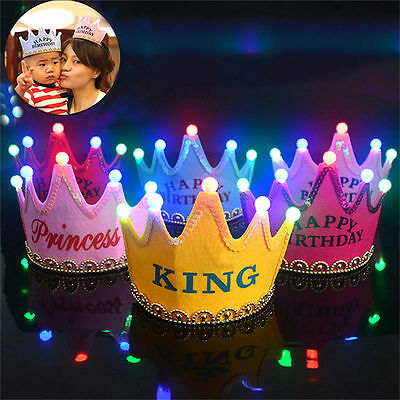 Led Party Celebration Hats Birthday Hat Festive Kid Party Decorations Supplies