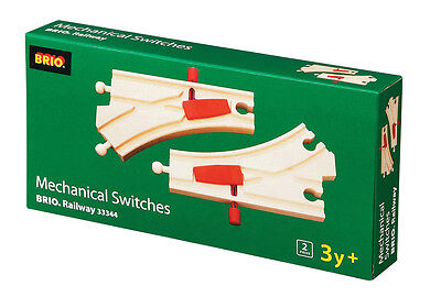 BRIO 33344 Mechanical Switches - Railway Tracks Age 3-5 years / 2 pcs New!