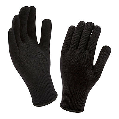 SealSkinz Merino Wool Thermal Glove Liner - One Size - Black