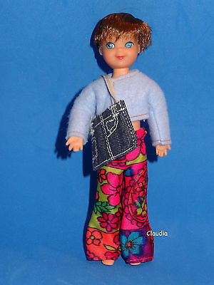 Vintage Barbie Brunette SHORT HAIRED TUTTI DOLL Tomboy with OOAK Fashion SO CUTE