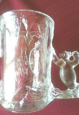 1997 Coca Cola Clear Glass Polar Bear Mug