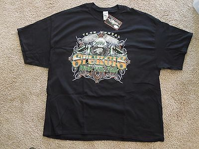 2016 Sturgis Harley Davidson Motorcycle Rally Black T-Shirt XXXL New With Tags