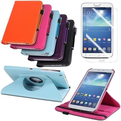 """Leather Case Smart Cover Stand for 8"""" Samsung Galaxy Tab 3 8.0 T3100/T3110 fm US"""